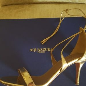 Gold Aquazzura shoes